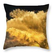 Golden Thunderhead Throw Pillow