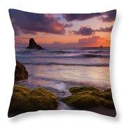 Golden Tides Throw Pillow