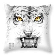 Golden Tiger Eyes Throw Pillow