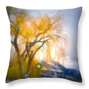 Golden Time Throw Pillow
