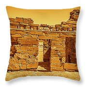 Golden Times Throw Pillow