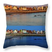 Golden To Blue Hour Puerto Sherry Cadiz Spain Throw Pillow