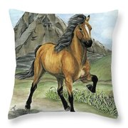 Golden Tolt Icelandic Horse Throw Pillow