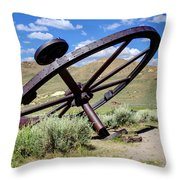 Golden Tools Throw Pillow