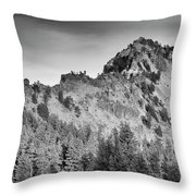 Golden Trail Crater Lake Rim Throw Pillow