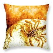 Golden Treasures Throw Pillow