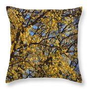 Golden Tree 3 Throw Pillow