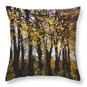 Golden Trees 1 Throw Pillow