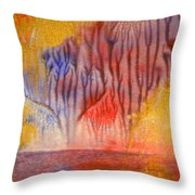 Golden Trees Of The Enchanted Forest Throw Pillow