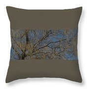 Golden Treetop Throw Pillow