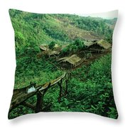 Golden Triangle Village Throw Pillow