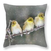 Golden Trio Throw Pillow