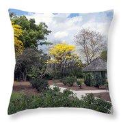 Golden Trumpet Trees Throw Pillow