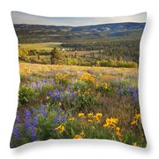 Golden Valley Throw Pillow