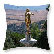 Golden View  Throw Pillow