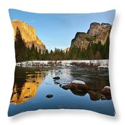 Golden View - Yosemite National Park. Throw Pillow