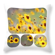 Golden Wave Collage Throw Pillow
