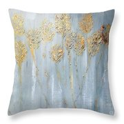 Golden Wheat Sheaf Throw Pillow