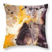 Golden Yellow And Purple Throw Pillow