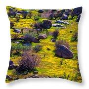 Goldenfield Hillside Throw Pillow