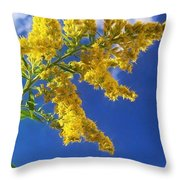 Goldenrod In The Sky Throw Pillow