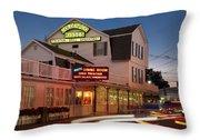 Goldenrod Kisses Luncheonette York Beach Maine Throw Pillow