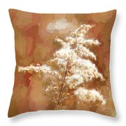 Goldenrod Plant In Fall Throw Pillow