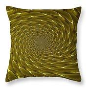 Goldenrod Vortex Throw Pillow