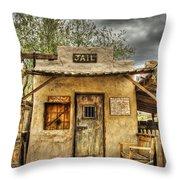Goldfield Ghost Town - Jail  Throw Pillow