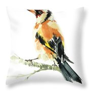 Goldfinch Bird  Throw Pillow