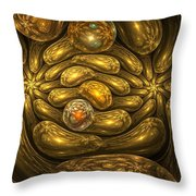 Goldfingers Throw Pillow