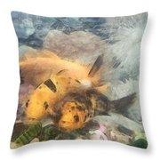 Goldfish In An Aquarium Throw Pillow