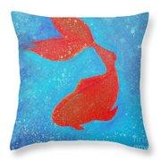 Goldfish No. 1 Throw Pillow