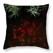 Goldfish Pond Throw Pillow