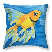 Goldfish Whisper Throw Pillow