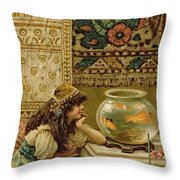Goldfish Throw Pillow by William Stephen Coleman