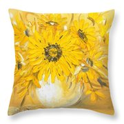 Goldflowers Throw Pillow
