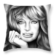 Goldie Hawn Throw Pillow