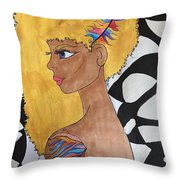 Golden With Background Throw Pillow