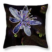 Goldthread In Outline Throw Pillow