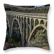 Goleta Hwy 101 Bridge Throw Pillow
