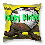 Golf A Saurus Birthday Throw Pillow