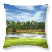 Golf At Pinehurst  Throw Pillow