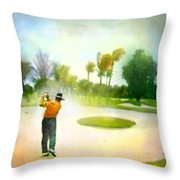 Golf At The Blue Monster In Doral Florida 02 Throw Pillow