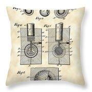 Golf Ball Patent 1902 - Vintage Throw Pillow