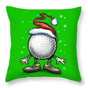 Golf Christmas Throw Pillow
