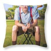 Golf Club Pro Throw Pillow