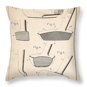 Golf Clubs Patent - Patent Drawing For The 1903 A. F. Knight Golf Clubs Throw Pillow