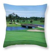 Golf Course Gold Coast Queensland Throw Pillow