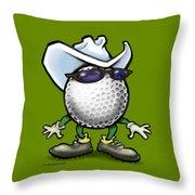 Golf Cowboy Throw Pillow